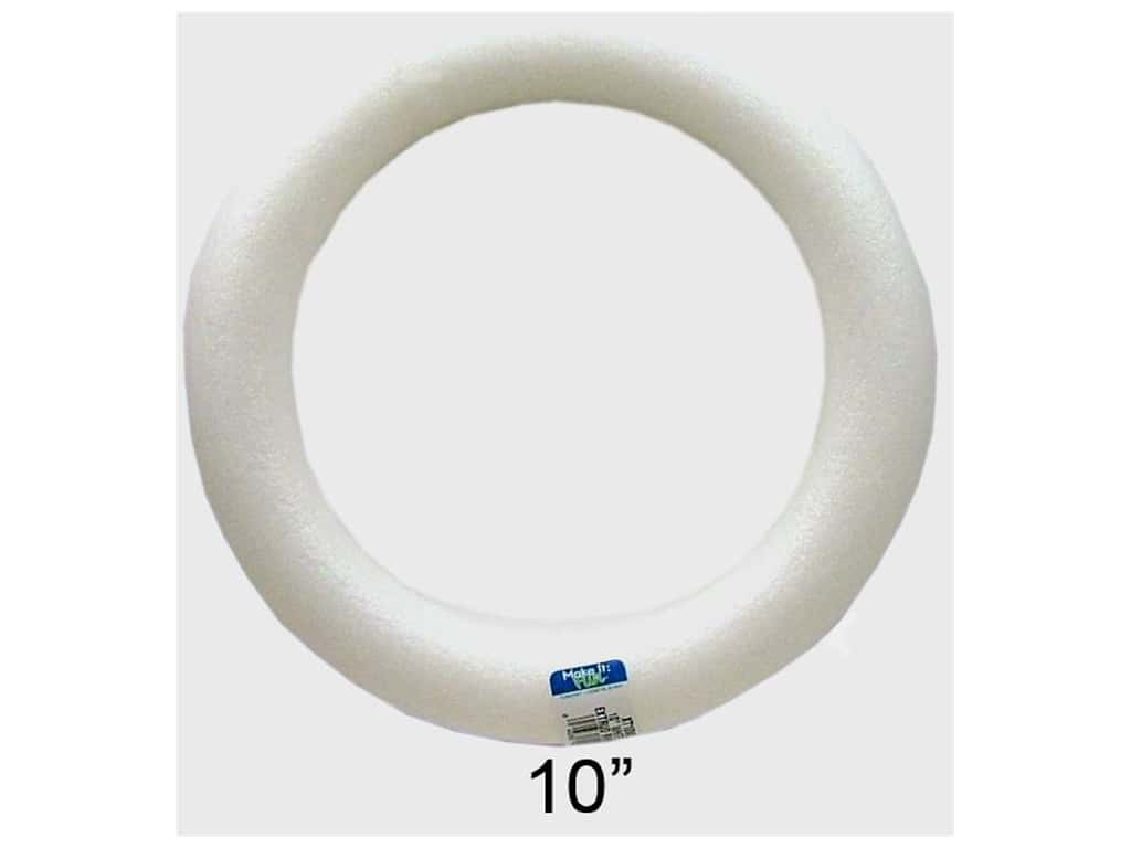 FloraCraft Styrofoam Extruded Wreath 10 x 1 1/2 in. 1 pc.