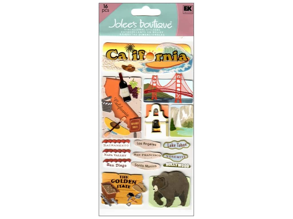 Jolee's Boutique Stickers Large California