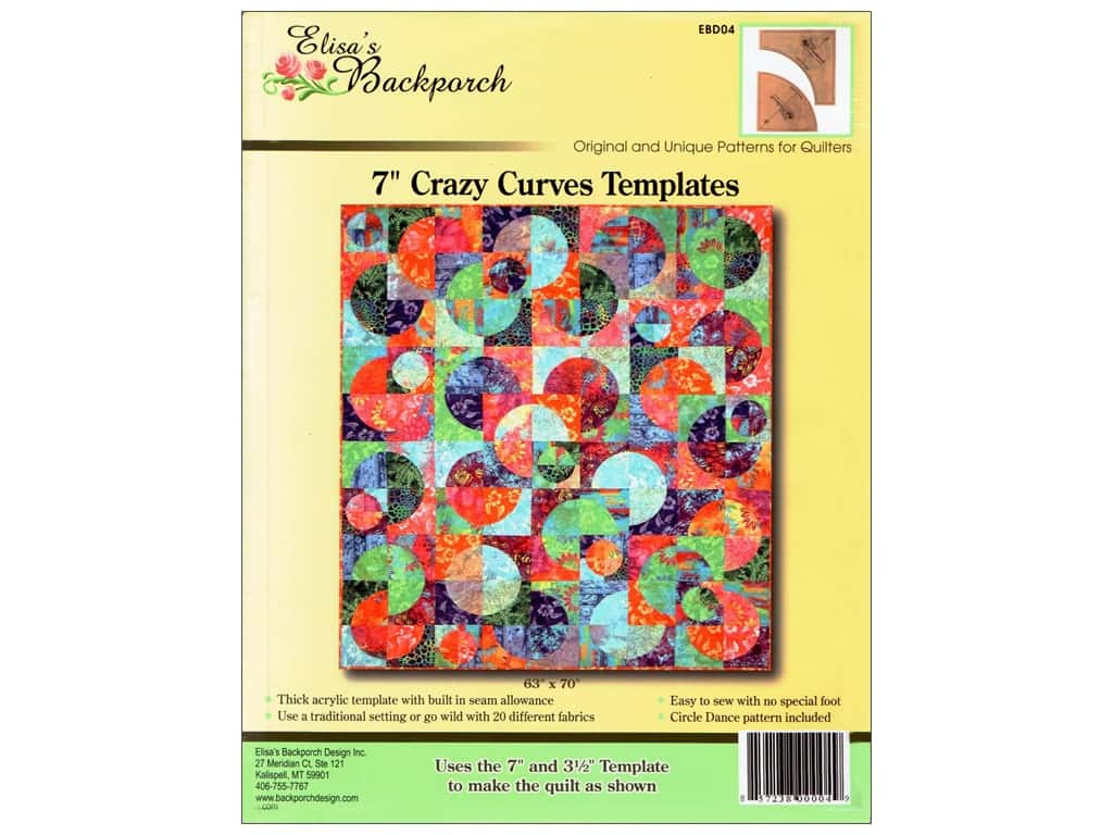 """Elisa's Backporch Template 7"""" Crazy Curves"""