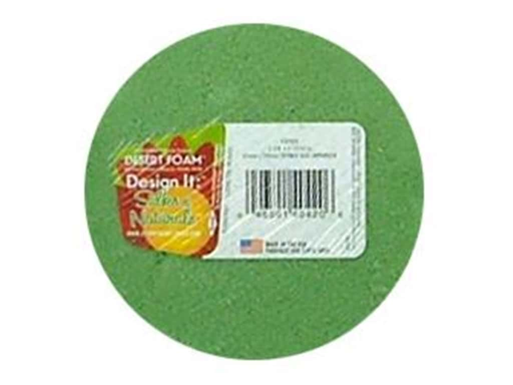 FloraCraft Desert Foam Arranger Disc 3 15/16 x 1 7/8 in. Green