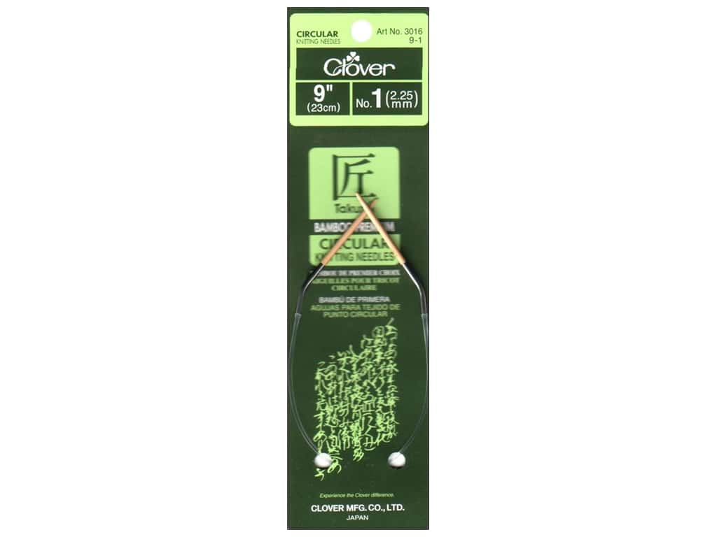 Clover Bamboo Circular Knitting Needles 9 in. Size 1 (2.25 mm)