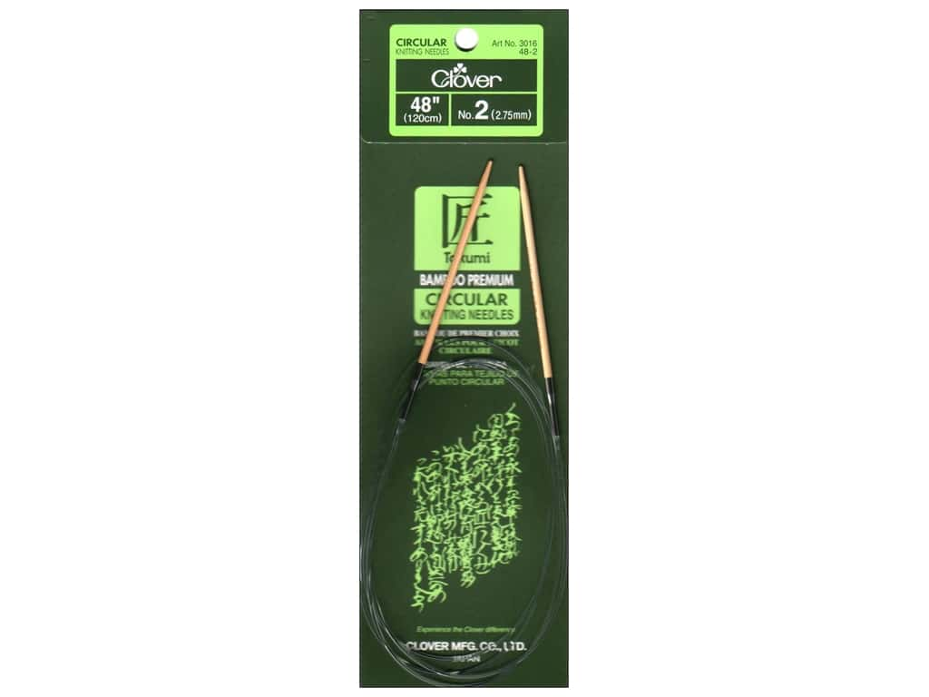 Clover Bamboo Circular Knitting Needles 48 in. Size 2 (2.75 mm)