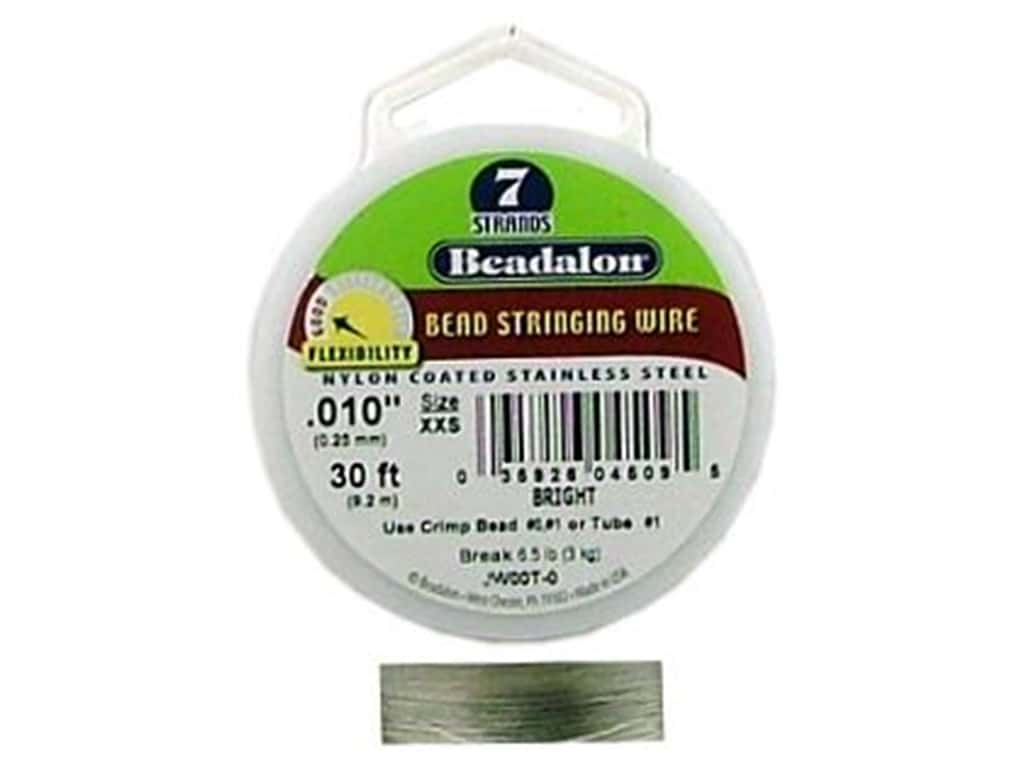 Beadalon Bead Wire 7 Strand .010 in. Bright 30 ft.