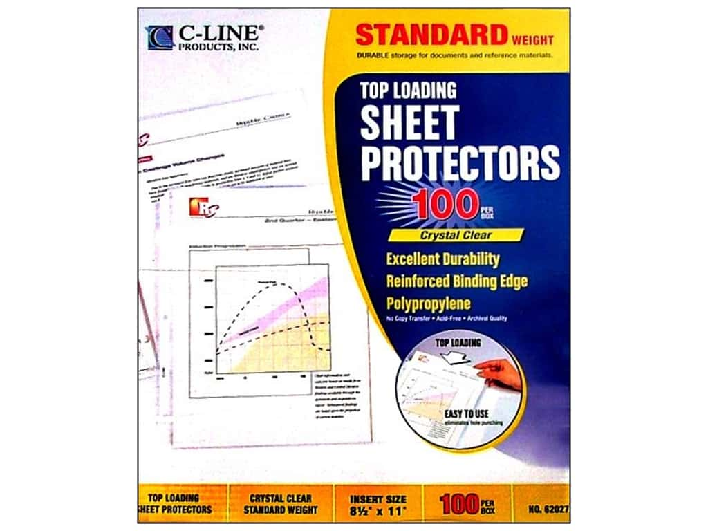 C-Line Sheet Protector 8 1/2 x11 in. Top Load Clear (100 pieces)