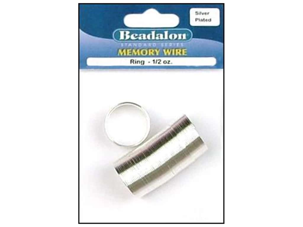 Beadalon Memory Wire Ring .5 oz. Silver