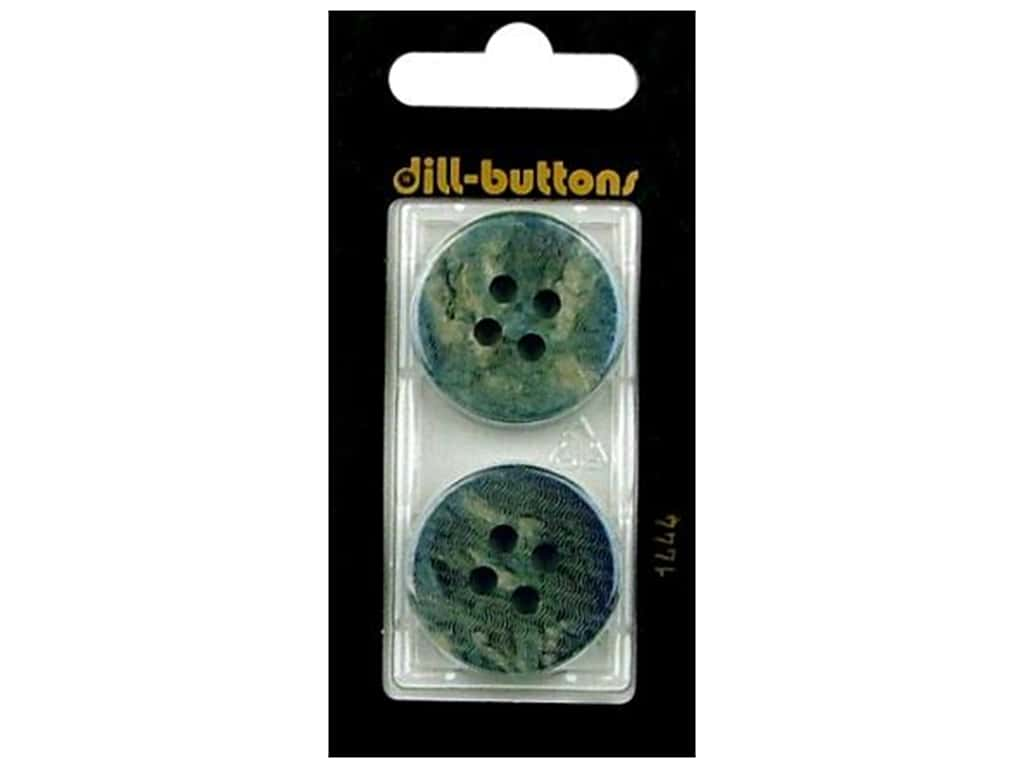 Dill 4 Hole Buttons 1 in. Blue #1444 2 pc.