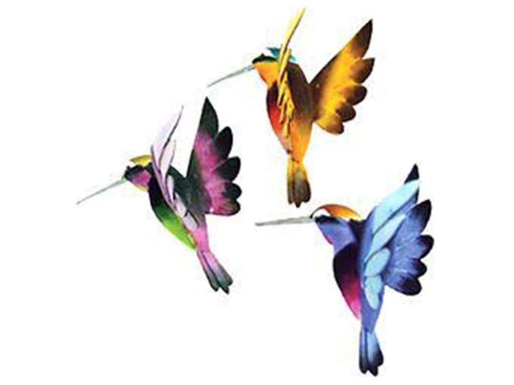 Midwest Design Artificial Birds 1 3/4 in. Flying Hummingbird Assorted 1 pc.