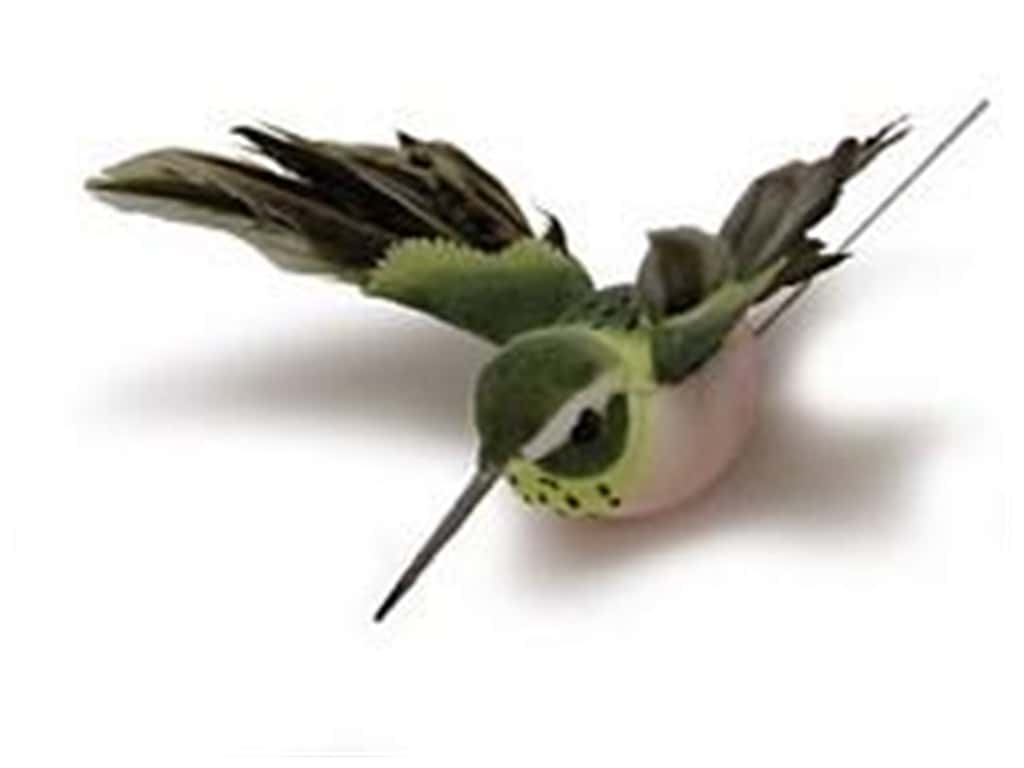 Midwest Design Artificial Birds 2 1/4 in. Feather Hummingbird 1 pc.