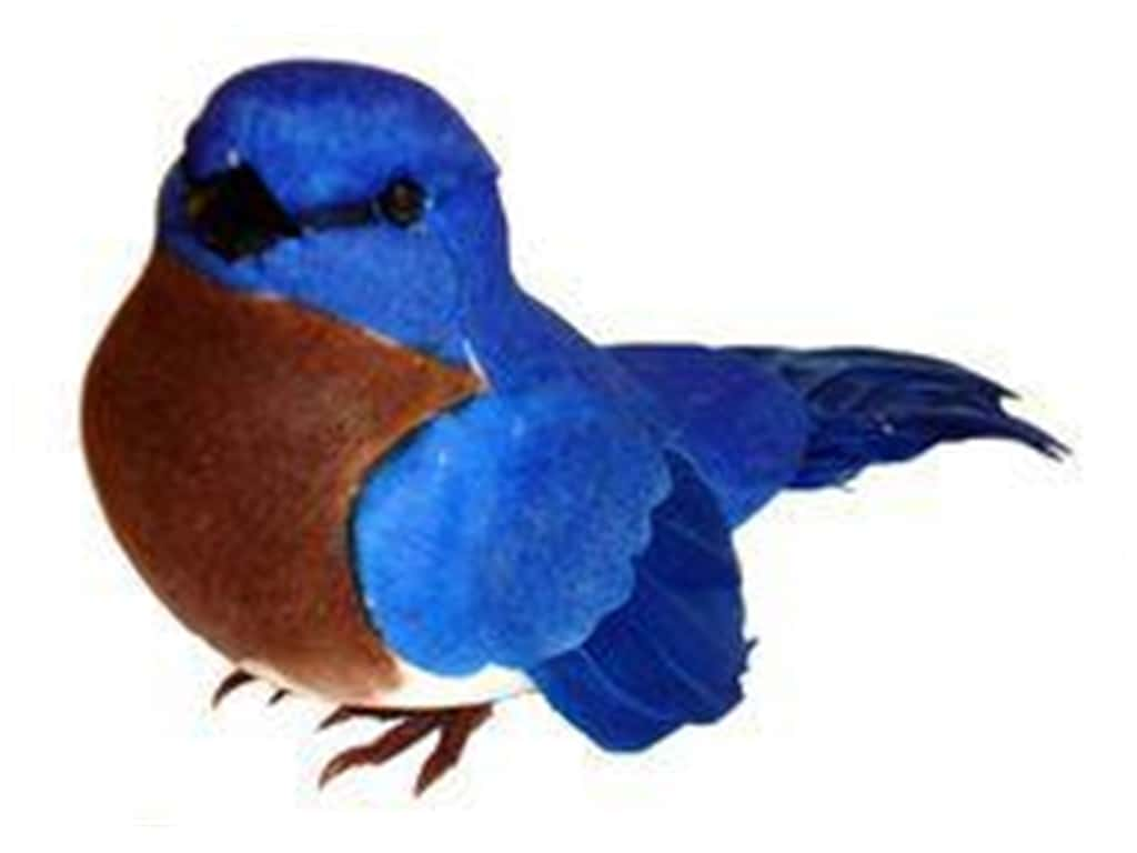 Midwest Design Artificial Birds 3.88 in. Feather East Bluebird 1 pc.