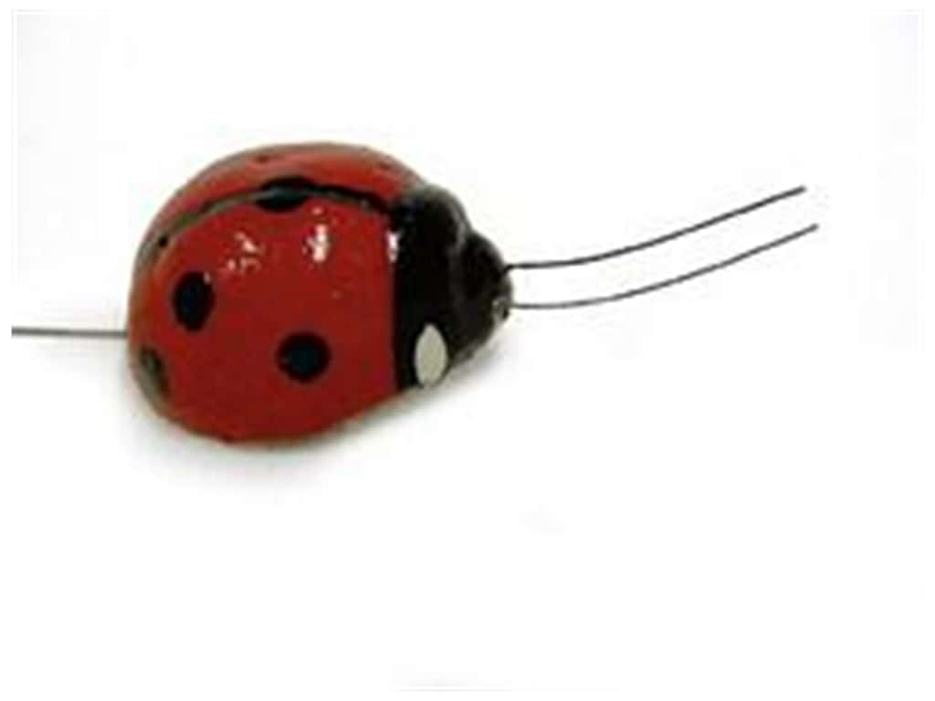 Midwest Design Plastic Ladybug 3/4 in. Red 4 pc.