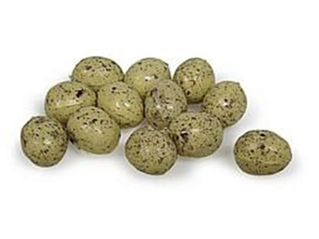 Midwest Design Artificial Bird Eggs 1/2 in. Speckled Beige 12 pc.