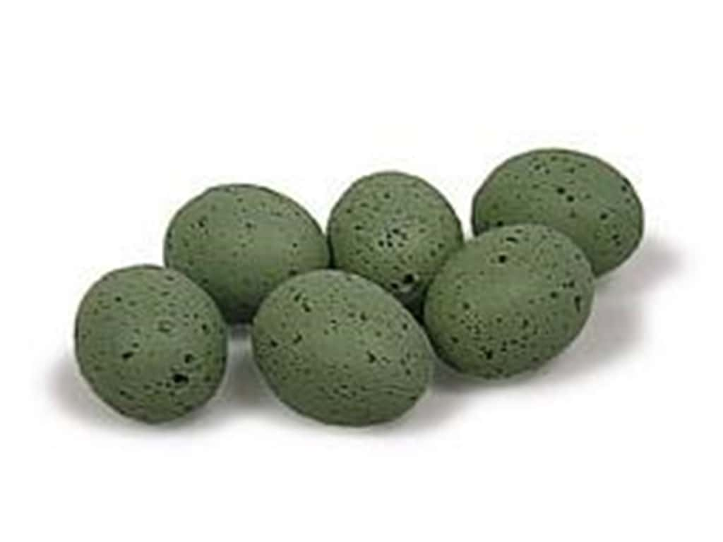 Midwest Design Artificial Bird Eggs 1 in. Speckled Blue/Green 6 pc.