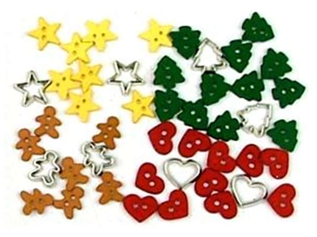 Jesse James Embellishments Holiday Collection Itty Bitty Cut Out Cookies
