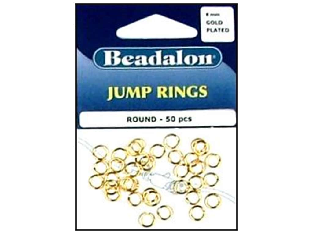Beadalon Jump Rings 6 mm Gold 50 pc.