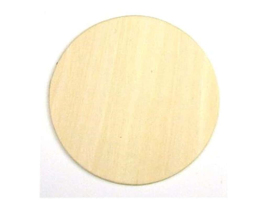 Darice Unfinished Wood Shape 3 1/4 in. Circle (24 pieces)