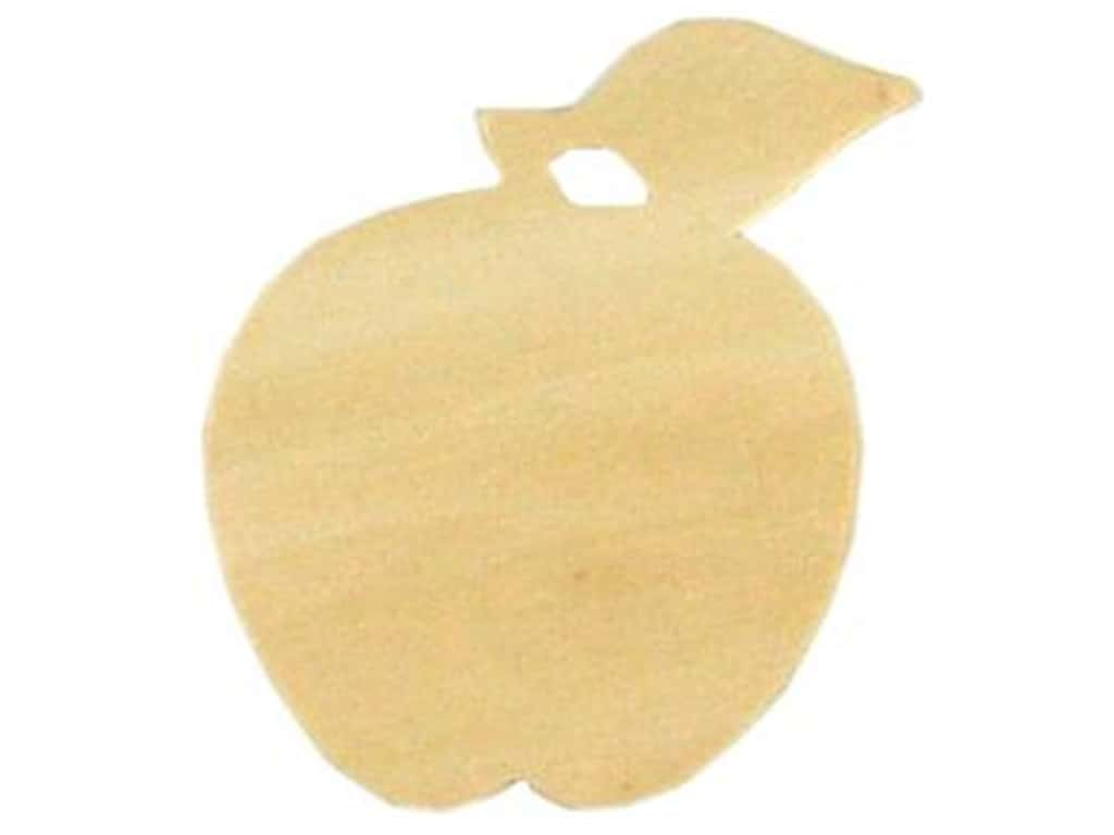 Darice Unfinished Wood Shape 3 1/2 x 3 in. Apple (24 pieces)