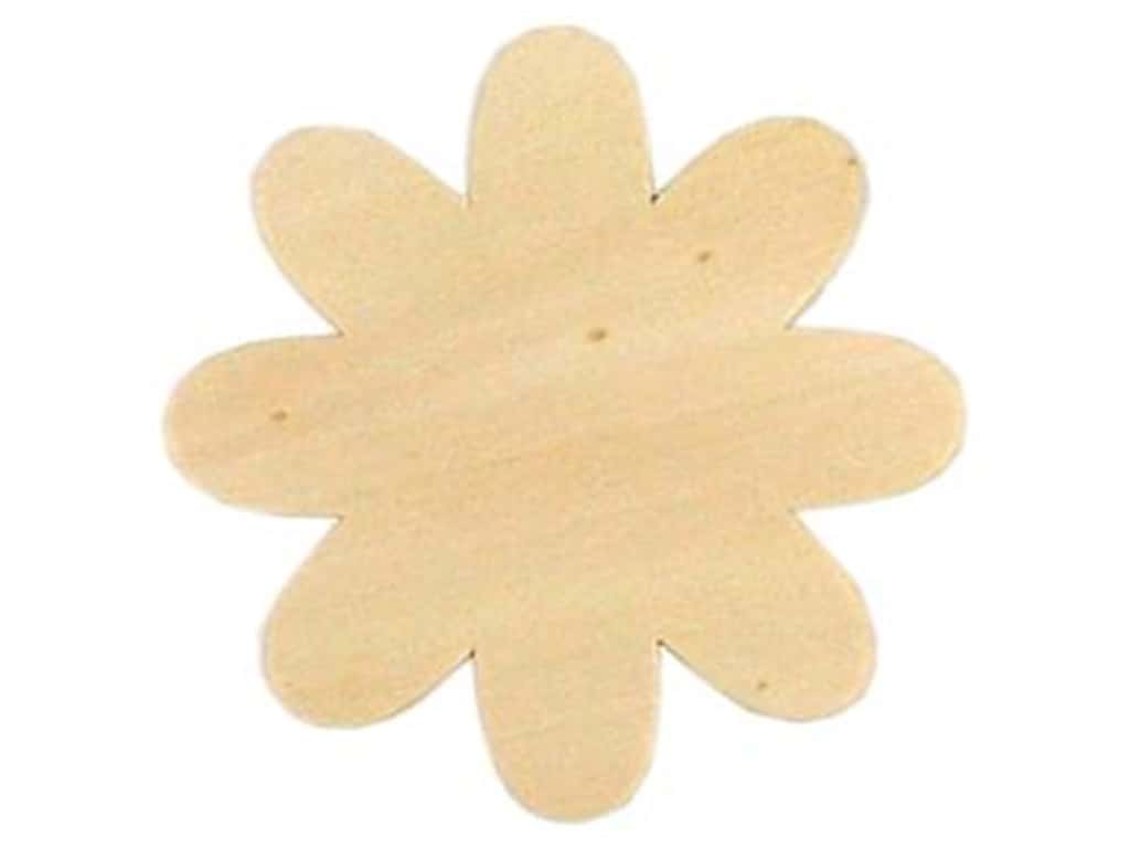 Darice Unfinished Wood Shape 3 1/2 x 3 1/2 in. Daisy (24 pieces)