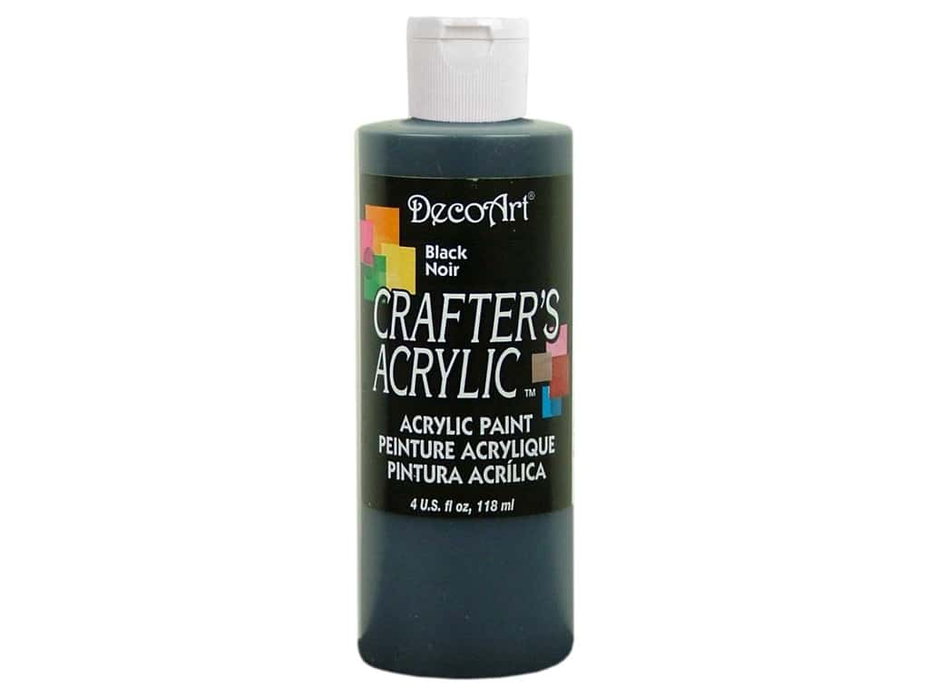 DecoArt Crafter's Acrylic Paint 4 oz. #DCA47 Black