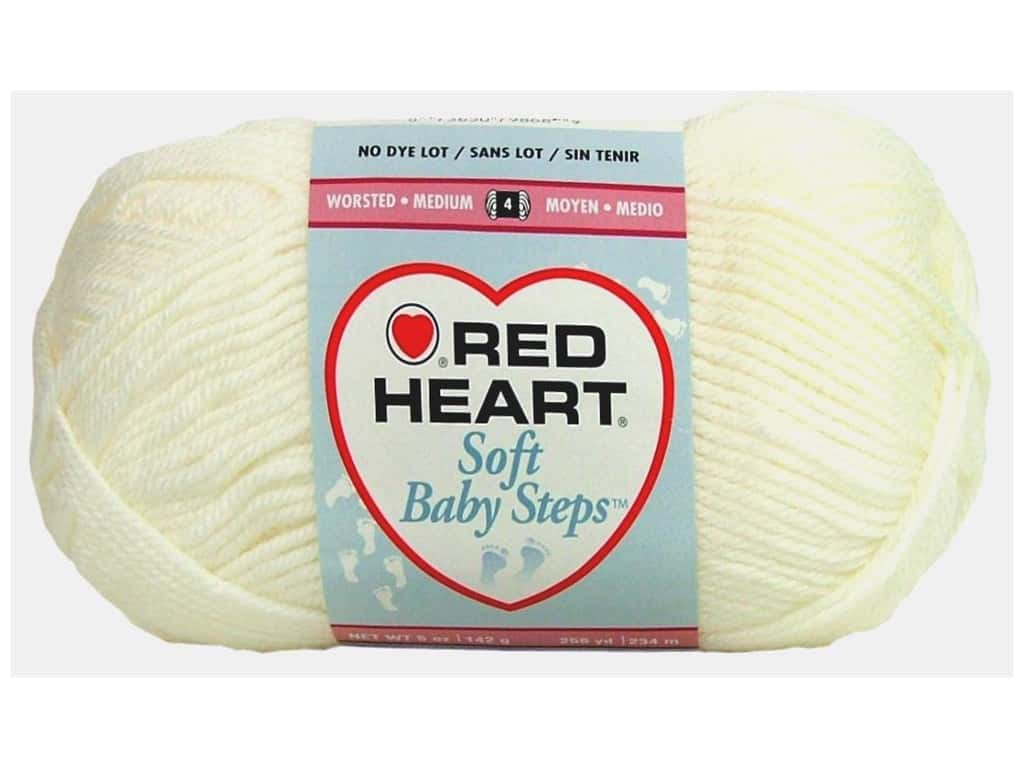 Red Heart Soft Baby Steps Yarn 256 yd. #9600 White