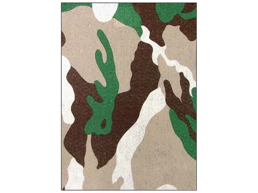 CPE Printed Felt 9 x 12 in. Camo Brown (12 sheets)