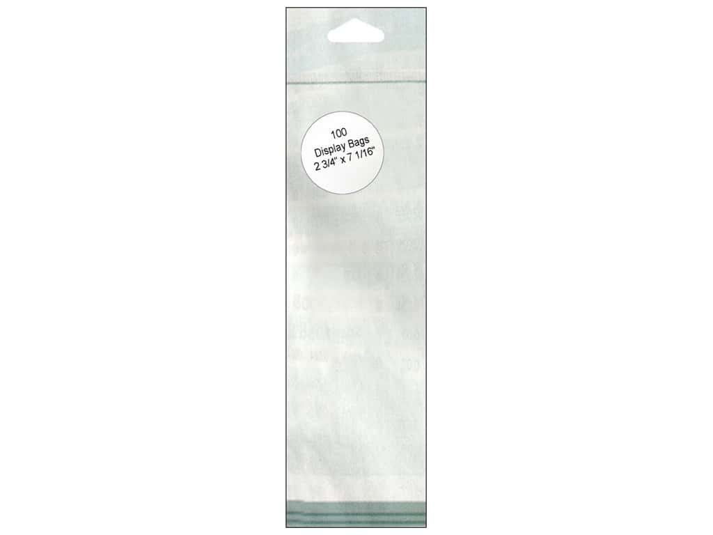 Paper Accents Display Bag 2 3/4 x 7 1/16 in. Clear 100 pc.