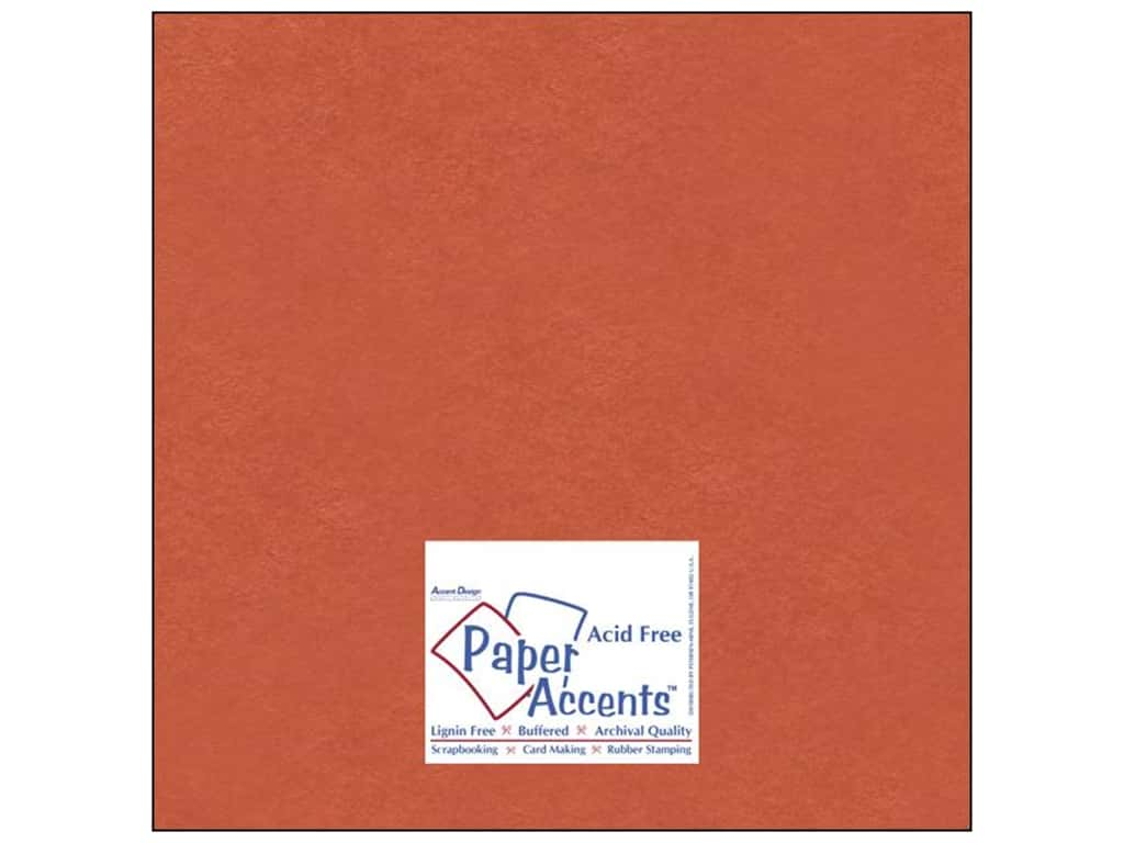 Paper Accents Cardstock 12 x 12 in. #8083 Muslin Construction Orange 25 pc.