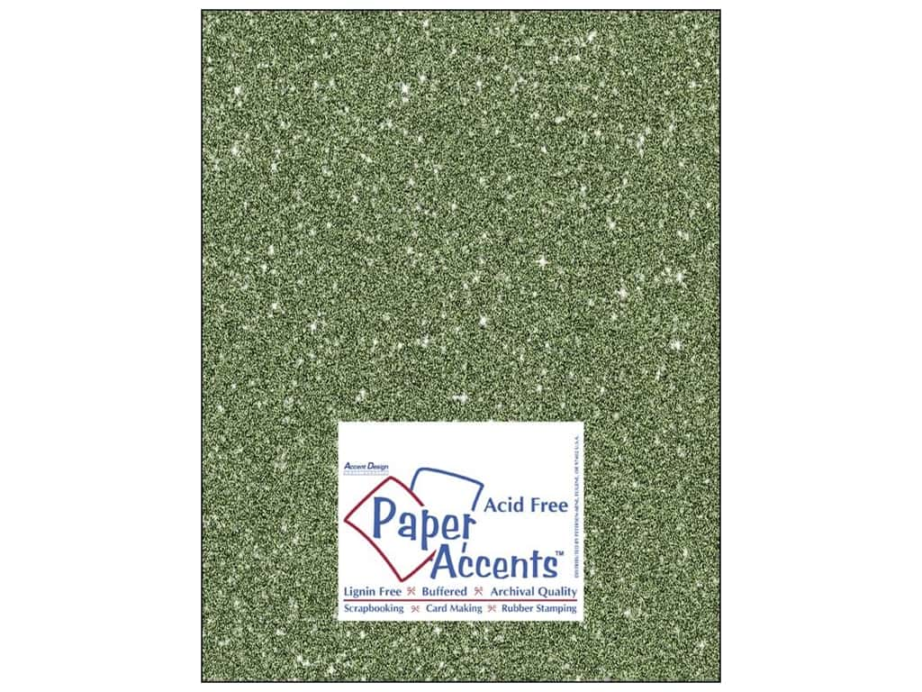 Paper Accents Cardstock 8 1/2 x 11 in. #5112 Glitz Silver/Bayberry 25 pc.