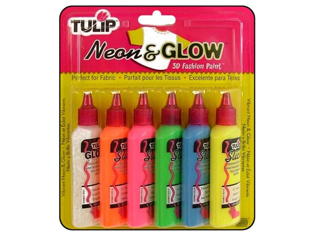 Tulip 3D Fashion Paint Set 6 pc. Neon & Glow
