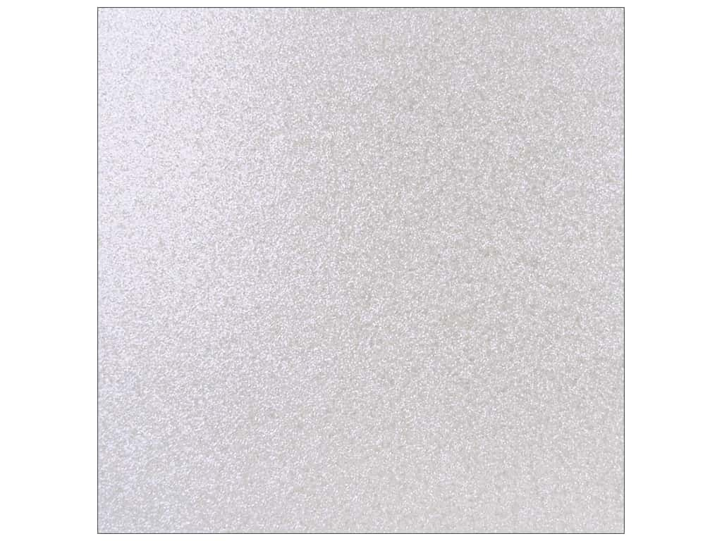 Best Creation 12 x 12 in. Cardstock Glitter Opal White (15 sheets)