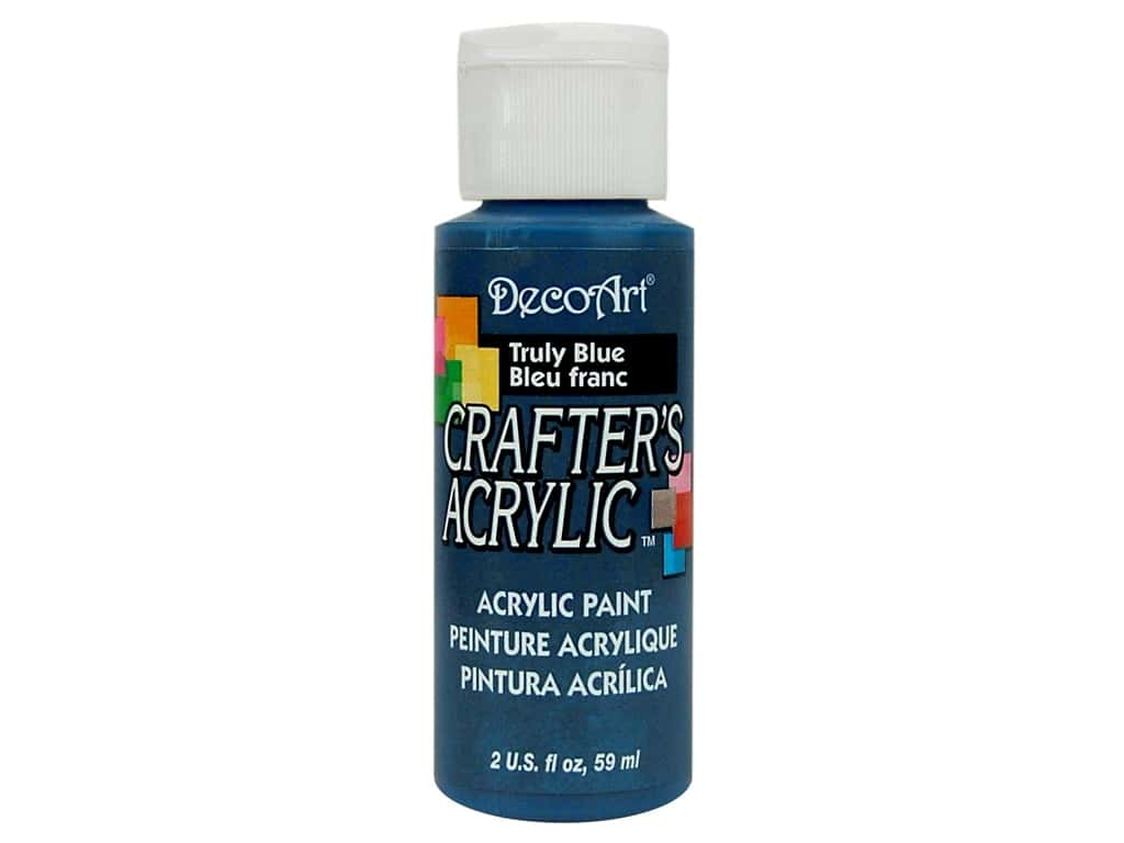 DecoArt Crafter's Acrylic Paint 2 oz. #79 Truly Blue