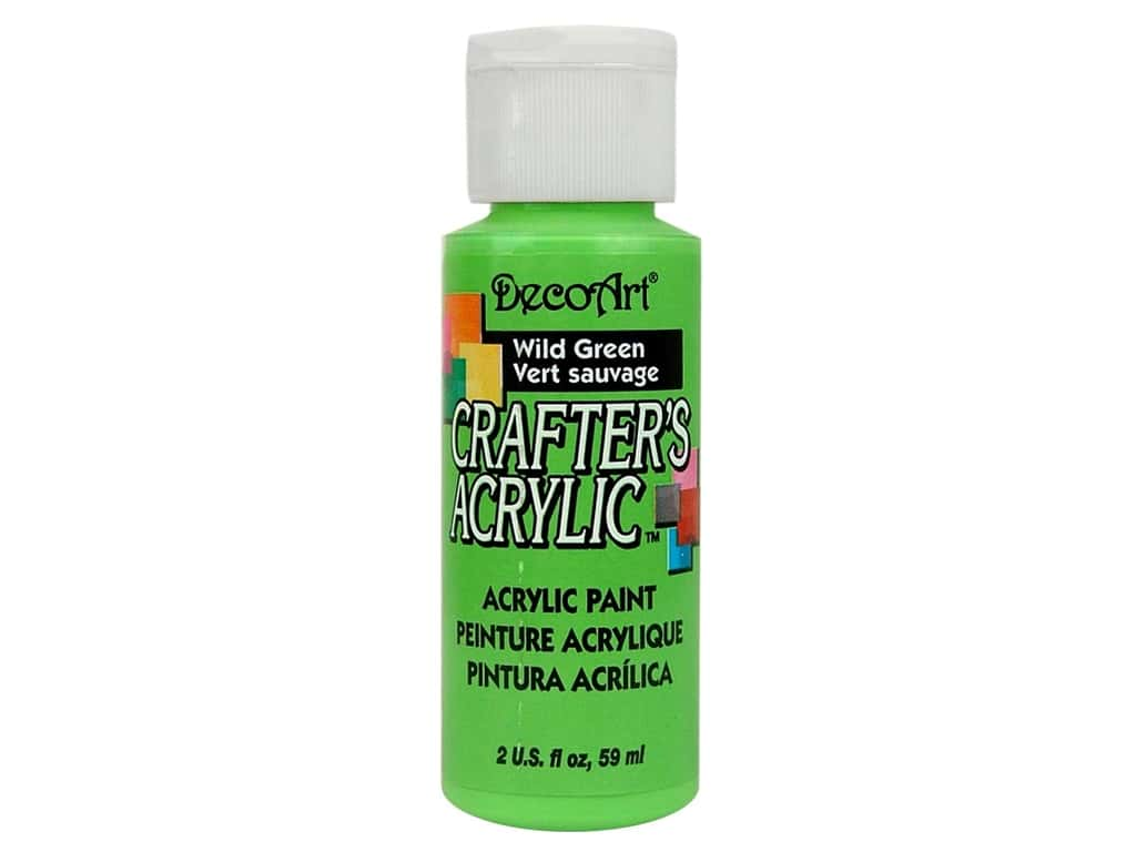 DecoArt Crafter's Acrylic Paint - #85 Wild Green 2 oz.