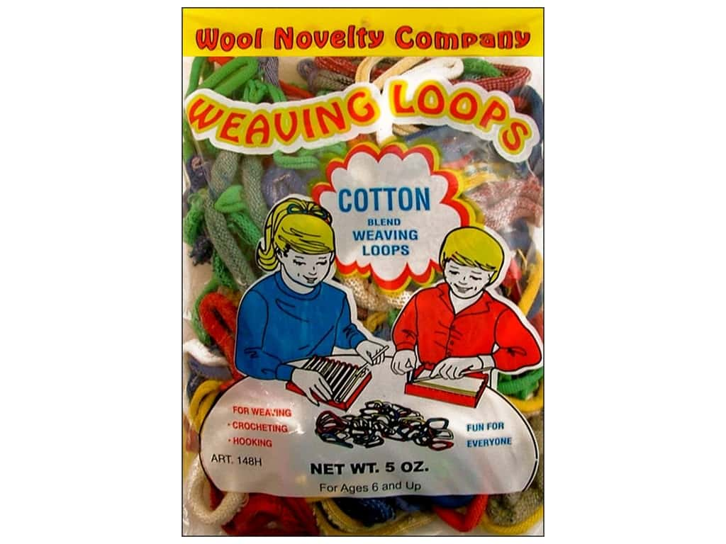 Wool Novelty Weaving Loops 5 oz. Assorted