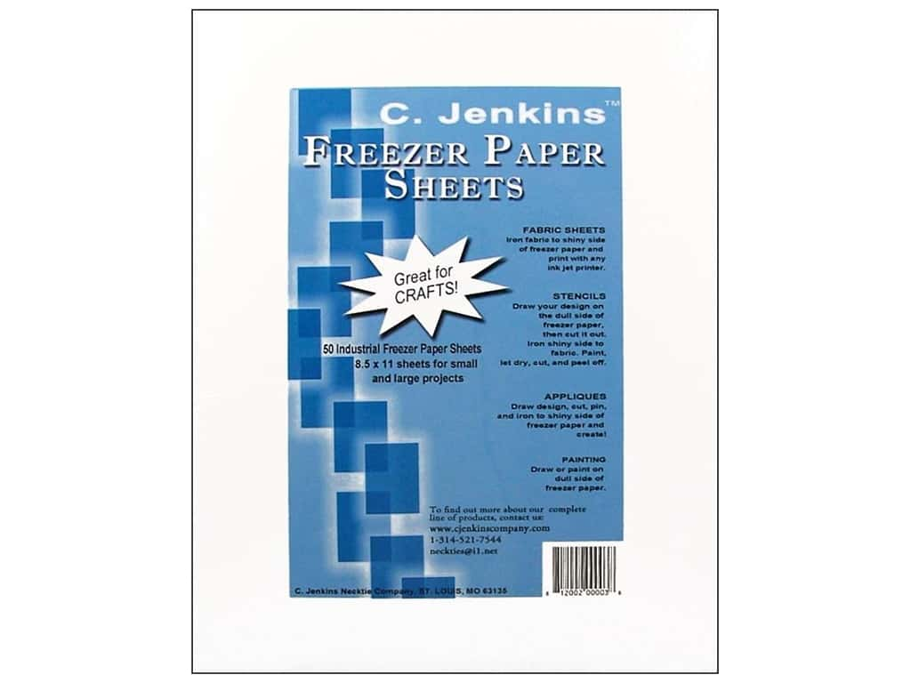 C. Jenkins Freezer Paper Sheets 8 1/2 x 11 in. 50 pc.