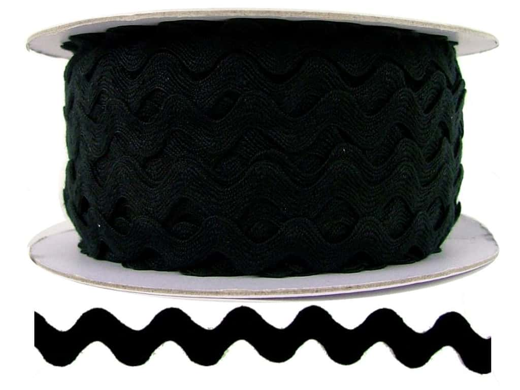 Cheep Trims Ric Rac 1/2 in. Black (24 yards)