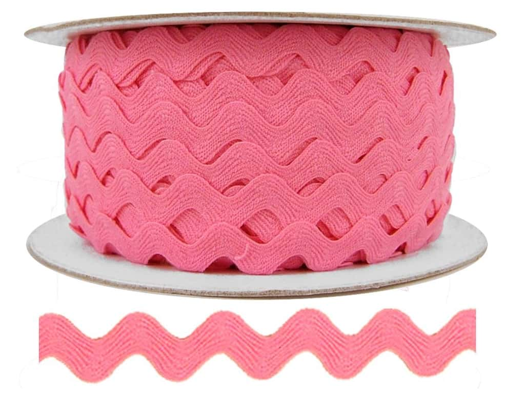 Cheep Trims Ric Rac 1/2 in. Dark Pink (24 yards)