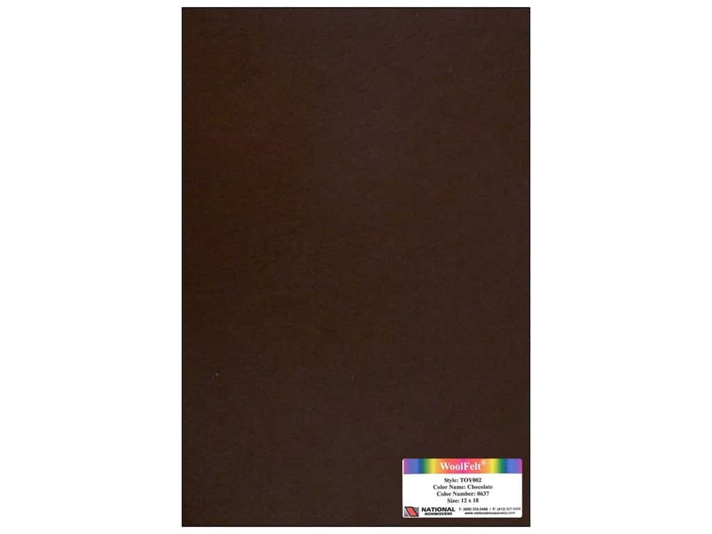 National Nonwovens 35% Wool Felt 12 x 18 in. Chocolate (10 sheets)