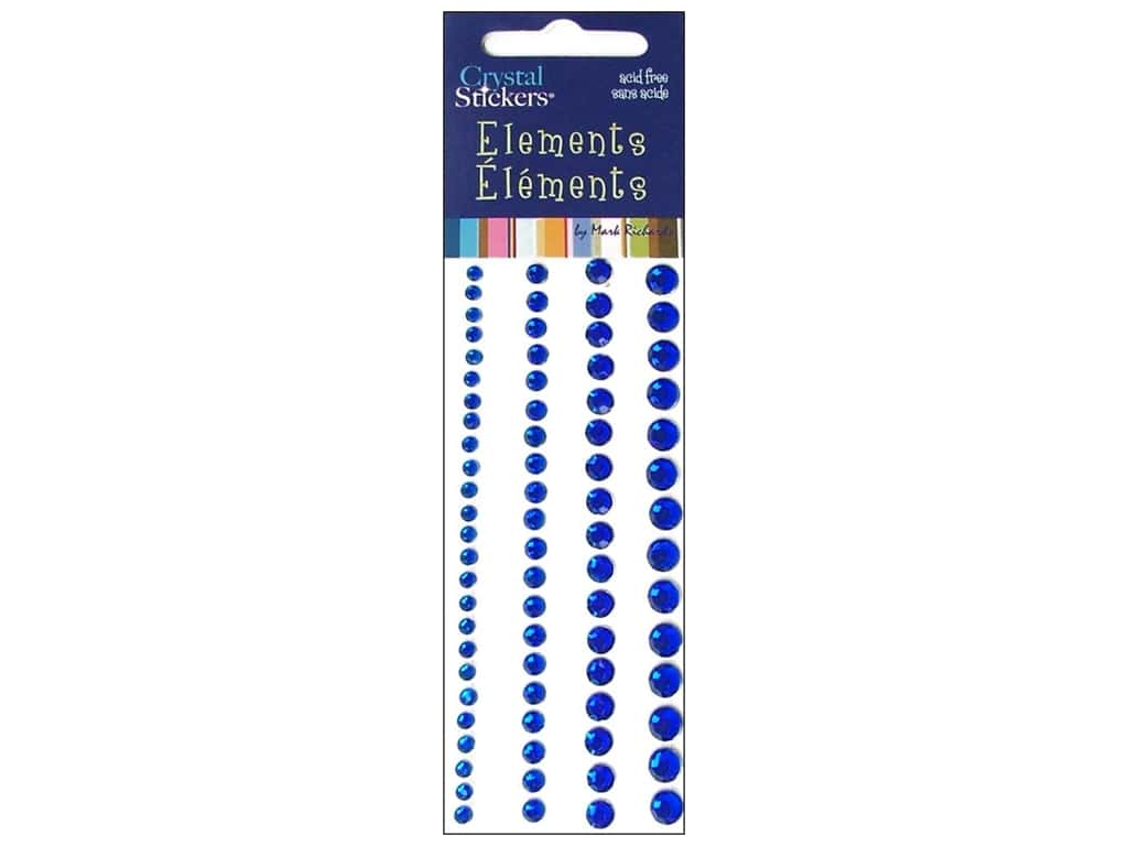 Mark Richards Crystal Stickers Round Blue 3 to 6 mm
