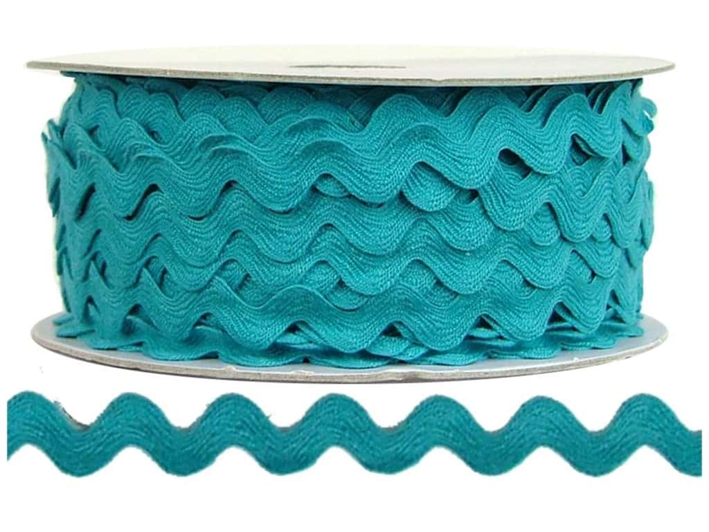 Cheep Trims Ric Rac 1/2 in. Turquoise (24 yards)