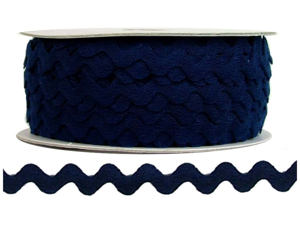 Cheep Trims Ric Rac 1/2 in. Navy (24 yards)