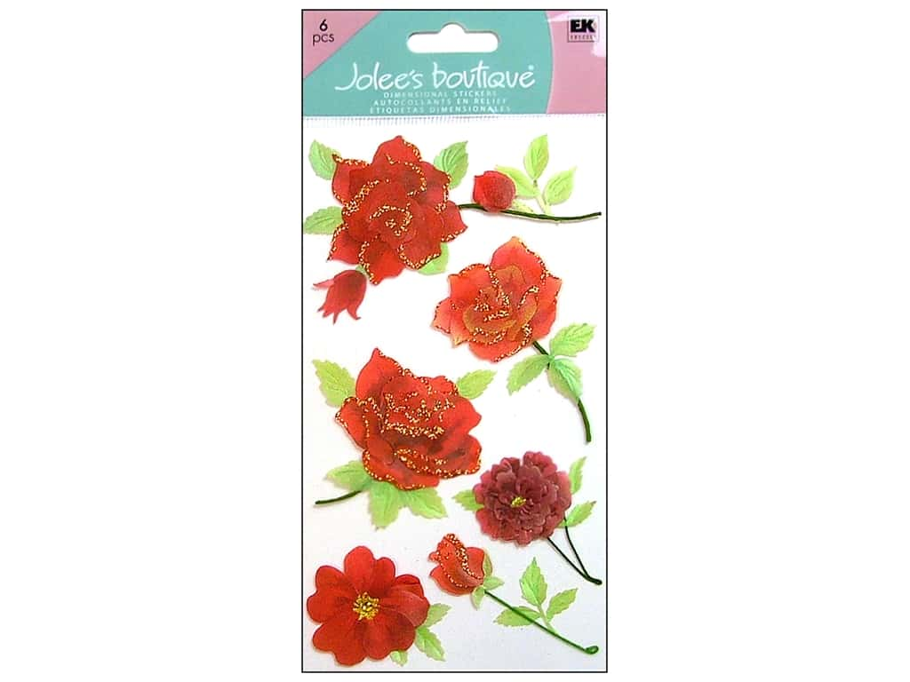 Jolee's Boutique Stickers Large Colorful Roses