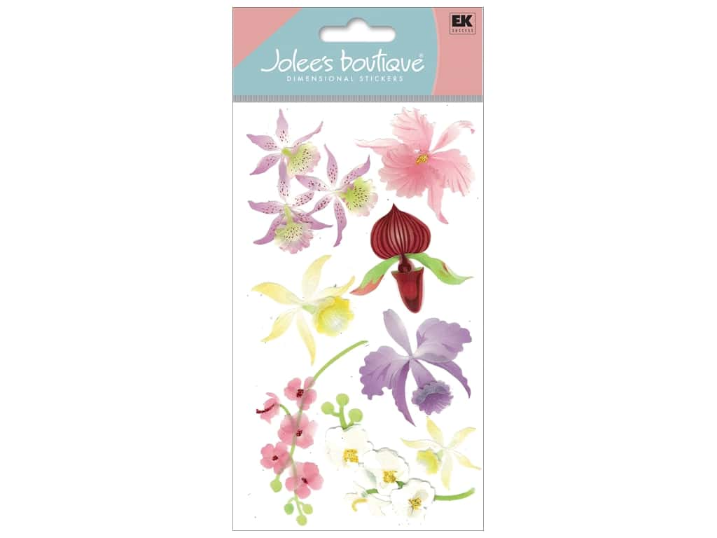 Jolee's Boutique Stickers Large Colorful Orchids