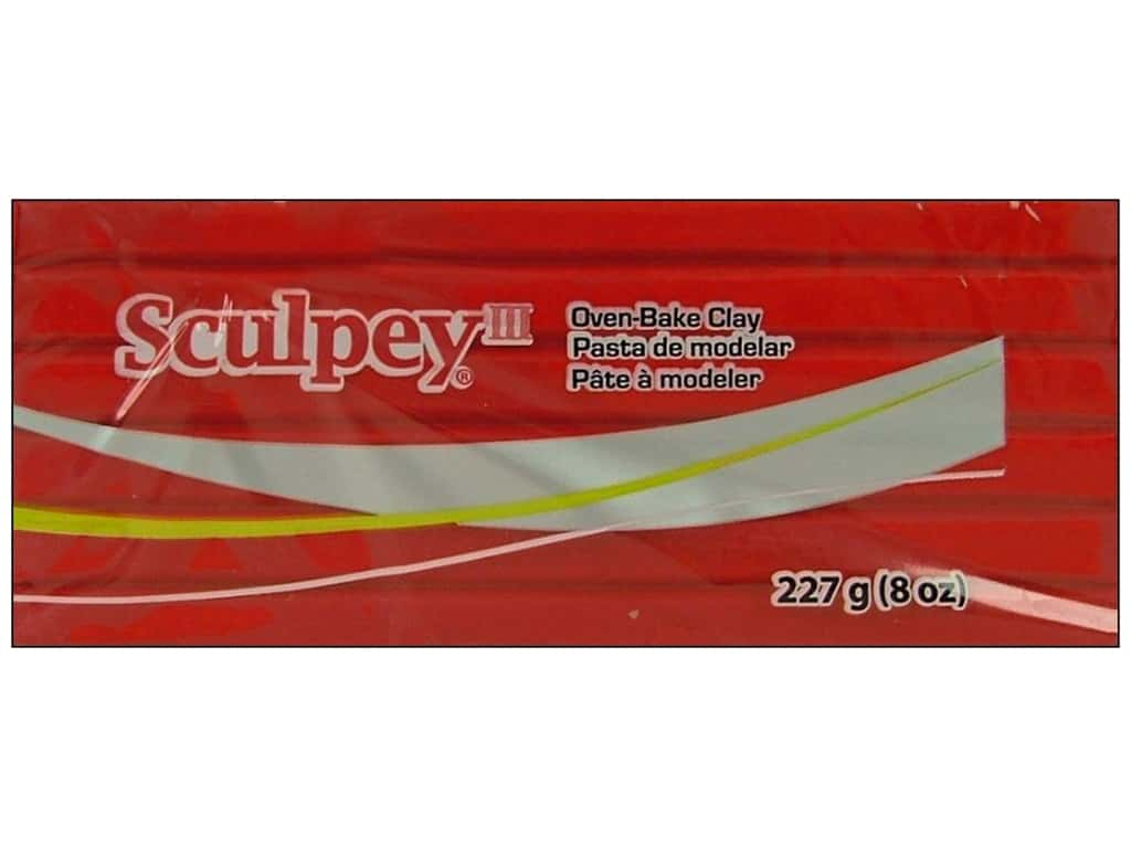 Sculpey III Clay 8 oz. Red Hot Red