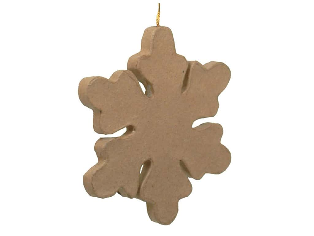 PA Paper Mache Snowflake Ornament 5 1/2 in.