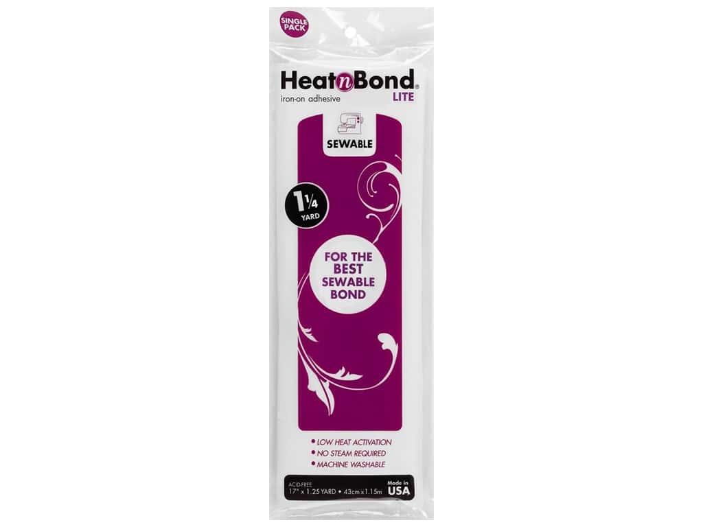 HeatnBond Lite Iron-on Adhesive 17 in. x 1 1/2 yd.