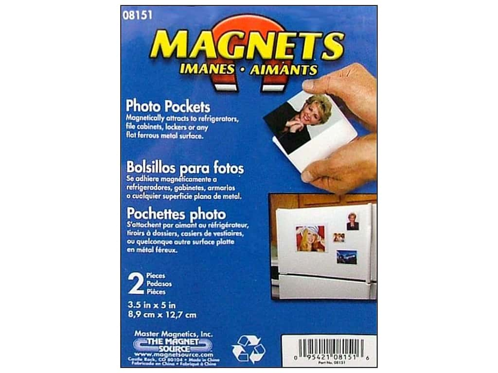 The Magnet Source Magnet Photo Pocket 3 1/2 x 5 in. 2 pc.