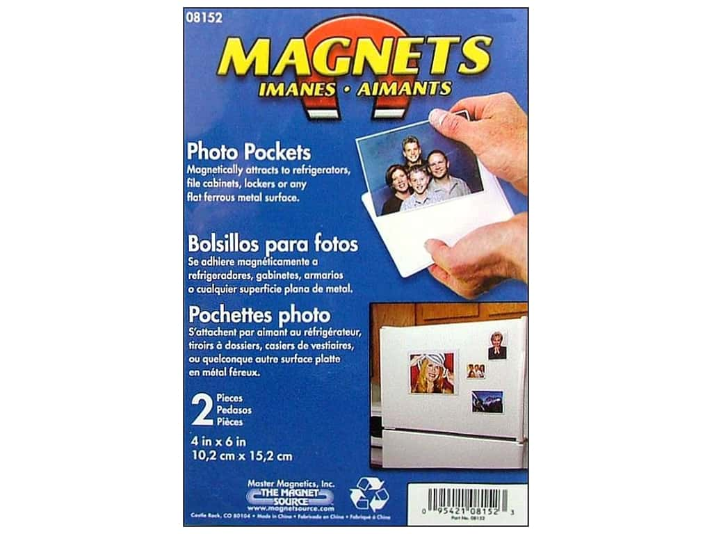 The Magnet Source Magnet Photo Pocket 4 x 6 in. 2 pc.
