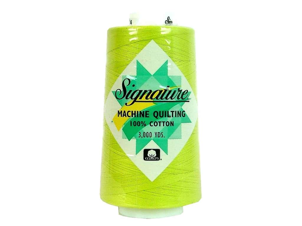 Signature 100% Cotton Thread 3000 yd. #F104 Lime Splash