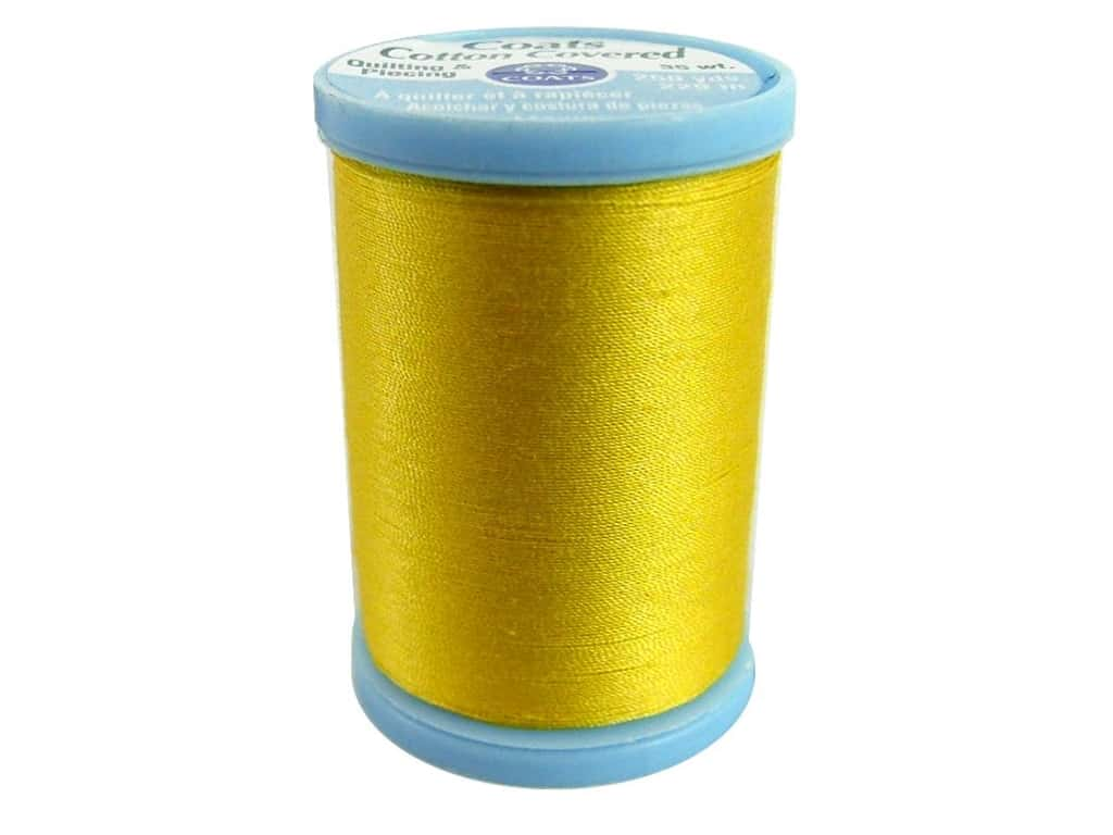 Coats Cotton Covered Quilting & Piecing Thread 250 yd. #7360 Sparkle Gold
