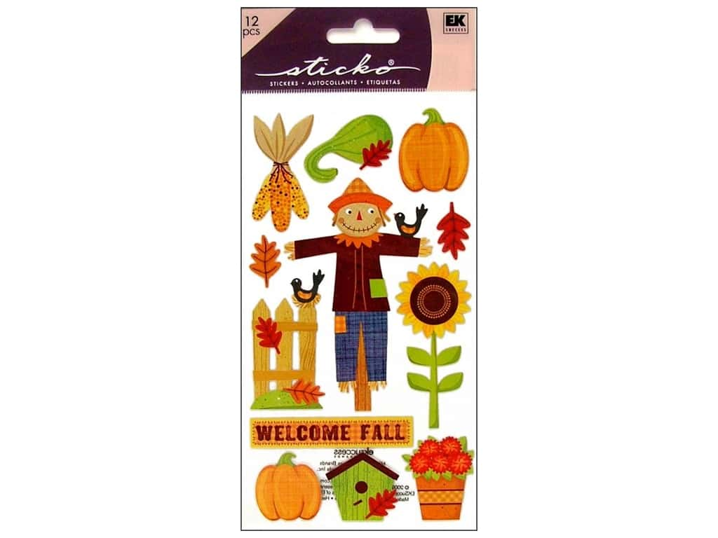 EK Sticko Stickers Welcome Fall