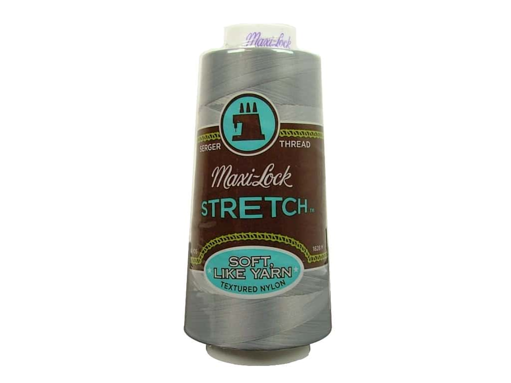 Maxi-Lock Stretch Thread 2000 yd. Light Grey